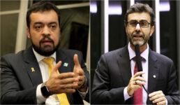 Governador em exercício do Rio de Janeiro, Cláudio Castro, e o deputado federal Marcelo Freixo