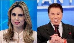 Rachel Sheherazade e Silvio Santos