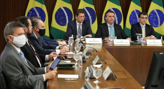 Bolsonaro durante participação na Cúpula do Clima