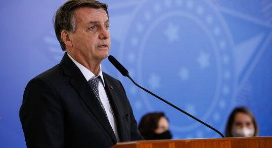Presidente Jair Bolsonaro durante discurso