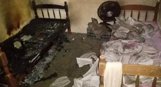 Crianças morreram abraçadas em incêndio