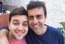 Deputado federal Marcelo Freixo e o filho, João Pedro Duarte