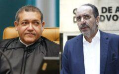 Ministro Kassio Nunes Marques e o prefeito de BH Alexandre Kalil