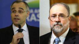 Ministro da Justiça, André Mendonça, e PGR, Augusto Aras