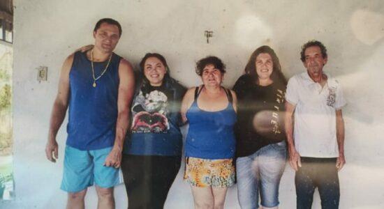 Claudinei Tizon (pai e assassino), Géssica Tizon, Maria Gorete Dias (avó da Géssica), Claudete Tizon (mãe da Géssica), Adenir Pedro Dias (avô da Géssica)