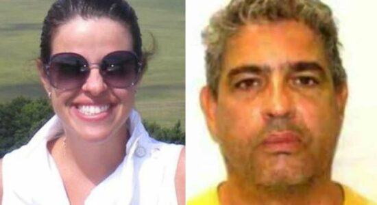 Viviane do Amaral e o ex-marido, Paulo José Arronenzi