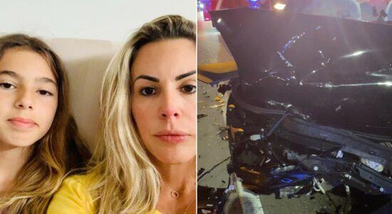 Joana Prado e filha sofreram acidente