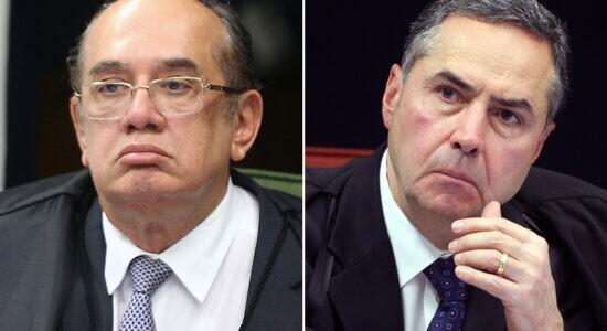 Ministros Gilmar Mendes e Luís Roberto Barroso