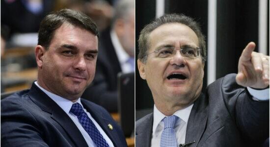 Senador Flávio Bolsonaro chamou Renan Calheiros de vagabundo