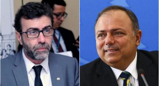 Deputado Eduardo Freixo e e ex-ministro da Saúde, Eduardo Pazuello