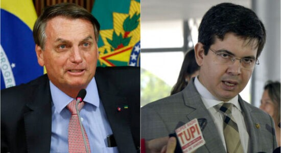 Presidente Jair Bolsonaro e o senador Randolfe Rodrigues