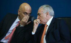 Ministro Alexandre de Moraes e o ex-presidente Michel Temer