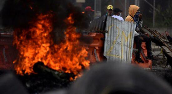 Manifestantes protestaram contra a reforma da Previdência