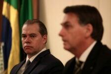 Ministro Dias Toffoli e o presidente Jair Bolsonaro