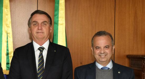 Presidente Jair Bolsonaro e o ministro do Desenvolvimento Regional, Rogério Marinho