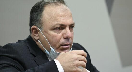 Ex-ministro da Saúde, Eduardo Pazuello, em depoimento à CPI da Covid