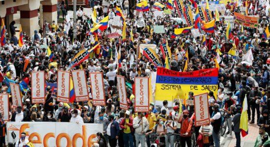 protestos na colômbia - quarta 5 de maio