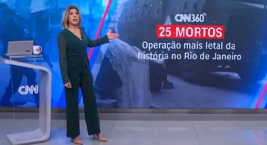 Daniela Lima durante comentário sobre operação no Jacarezinho