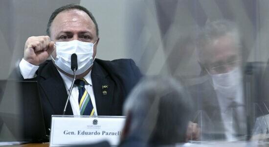 Ex-ministro Eduardo Pazuello na CPI da Covid