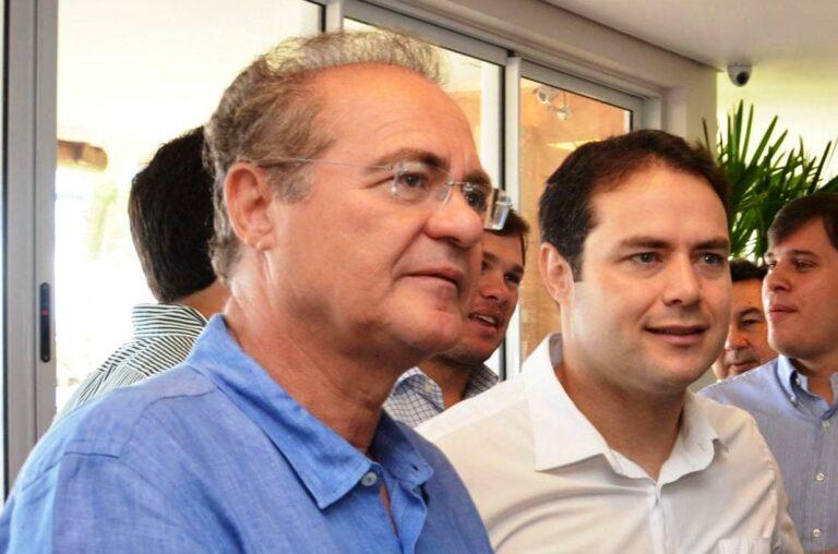 Renan Filho (MDB), de Alagoas, ao lado do pai Renan Calheiros