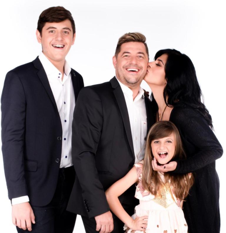 Fernanda Brum e família