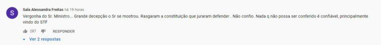 Comentários no YouTube pedem implantação do voto impresso