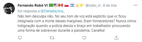 Daniela Lima recebeu duras críticas nas redes sociais