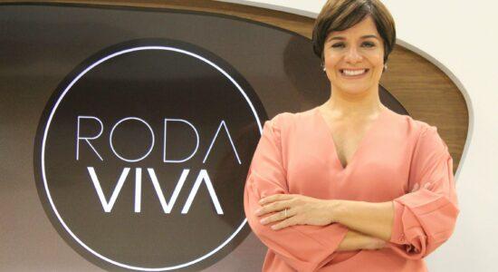 Vera Magalhães é a atual âncora do Roda Viva
