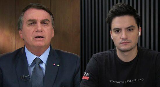 Presidente Jair Bolsonaro e o youtuber Felipe Neto