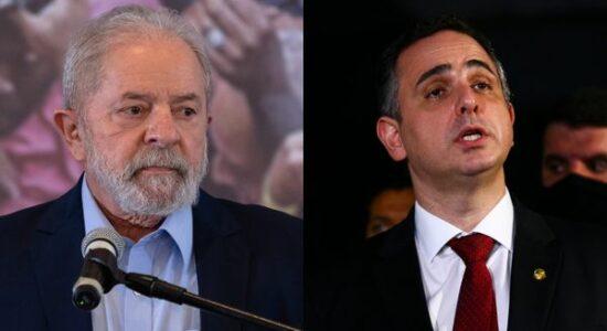 Ex-presidente Luiz Inácio Lula da Silva e o presidente do Senado, Rodrigo Pacheco