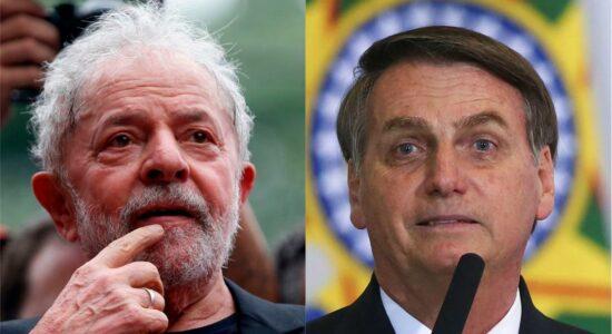 Datafolha afirma que Lula vence Bolsonaro em 2022