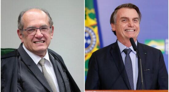 Ministro Gilmar Mendes, do STF, e o presidente Jair Bolsonaro
