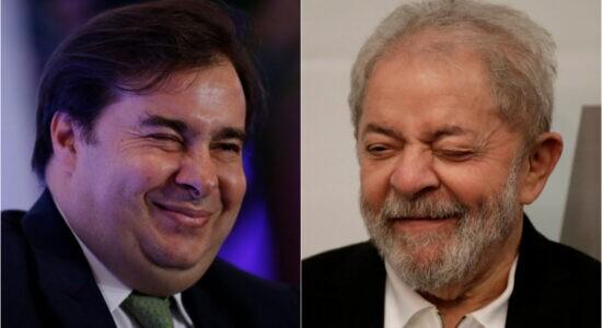 Ex-presidente da Câmara dos Deputados, Rodrigo Maia, e o ex-presidente Luiz Inácio Lula da Silva