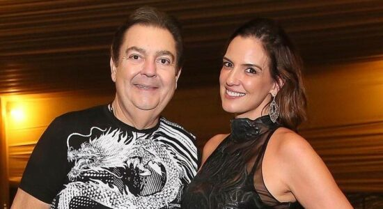 Fausto Silva e a esposa Luciana Cardoso