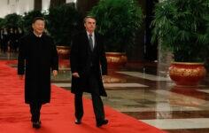Presidentes da China, Xi Jinping, e do Brasil, Jair Bolsonaro.