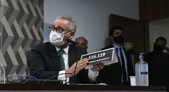 Senador Renan Calheiros, relator da CPI da pandemia