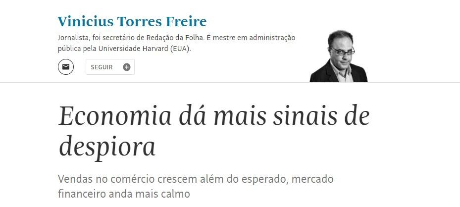 Artigo da Folha voltou a usar termo despiora