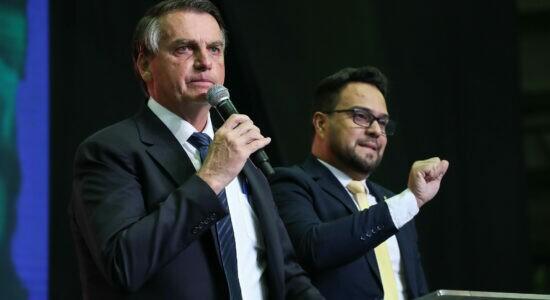 Presidente Jair Bolsonaro durante cerimônia comemorativa da Assembleia de Deus