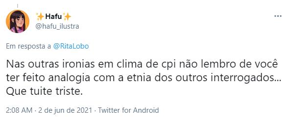 Rita Lobo foi criticada por internautas