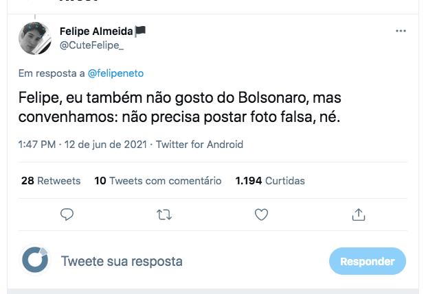 Seguidores desmentem post de Felipe Neto sobre motociata