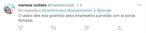 Internautas criticaram atitude de João Doria de se hospedar em hotel de luxo
