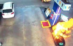 Bomba de combustível pegou fogo em Foz do Iguaçu