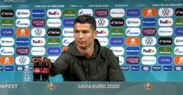 Cristiano Ronaldo rejeita Coca-Cola
