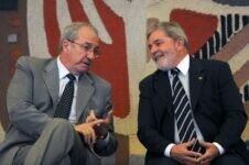 Ex-presidente Luiz Inácio Lula da Silva e o ex-ministro Franklin Martins