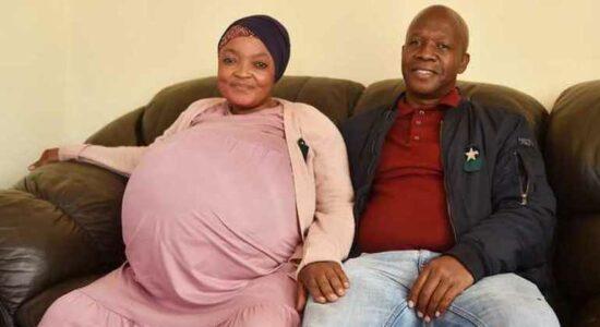 Gosiame Thamara e o companheiro Tebogo Tsotetsi