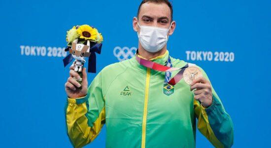 Fernando Scheffer conquistou o bronze na natação