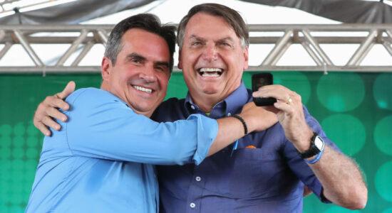 Presidente Jair Bolsonaro e o senador Ciro Nogueira