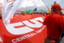 Bandeira CUT central única dos trabalhadores
