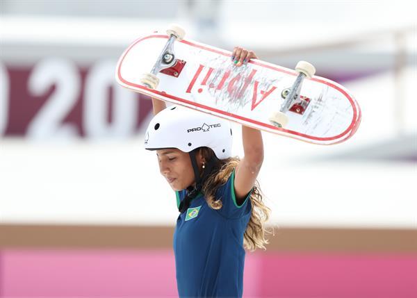 Rayssa conquistou a medalha de prata nas Olimpíadas de Tóquio
