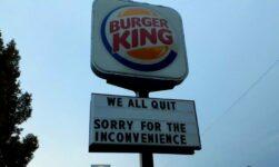 Funcionários pediram demissão de unidade do Burger King